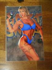 Bodybuilder CORY EVERSON female muscle ORIGINAL Signed AUTOGRAPHED photo