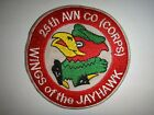 US 25th Aviation Company WINGS OF THE JAYHAWK Vietnam War Patch