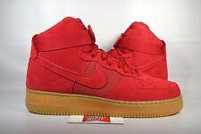 Nike Air Force 1 AF1 GYM RED SUEDE GUM BOTTOM 806403-601 sz 11