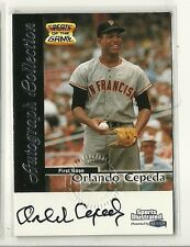 1999 Fleer Sports Illustrated Greats of the Game #ORCE Orlando Cepeda Auto