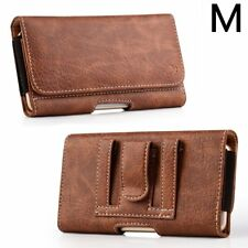 SAMSUNG GALAXY S8 / S9 - Brown Leather Pouch Card Holder Belt Clip Holster Case