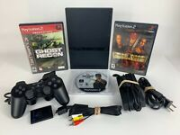 Sony PlayStation 2 PS2 Slim Console Bundle w/ Controller - 3 Games - Memory Card