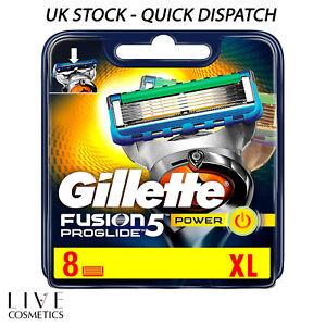 Gillette Fusion 5 Proglide Power Razor Blades 8 pack - 100% Genuine *NEW*