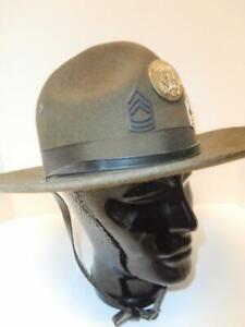 VINTAGE WWII ERA ARMY DRILL SERGEANT FELT HAT, EXCELLENT!!!