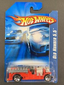 2006 RARE Hot Wheels Old Number 5.5 Red 2007 All Stars Firetruck New