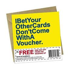 Funny Coupon & Greeting Card - Washing Up Voucher