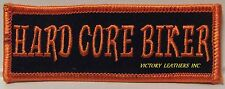 HARD CORE BIKER EMBROIDERED PATCH, BIKER PATCHES, FUNNY BIKER PATCHES