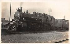 A67/ Alberta Canada Postcard Real Photo RPPC c1910 C.P.R. Railroad Steam Loco