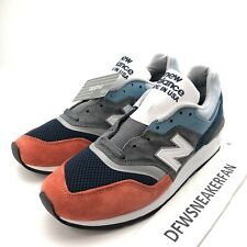 New Balance 997 MADE IN USA Men's 9 Chambray Blue Orange Shoes M997NAG New