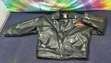 HARLEY DAVIDSON kid size 7 zip up Jacket motorcycle simulated leather