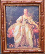 1:12 Scale Picture (Print) Of A Lady In A Wooden Frame Tumdee Dolls House Art SA