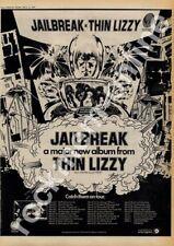 Thin Lizzy Jailbreak Brunel University LP Tour advert 1976