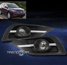 FOR 2012-2014 HONDA CR-V BUMPER CHROME FOG LIGHTS LAMP W//3K HID KIT+BEZEL+SWITCH
