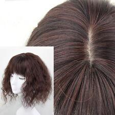 Women Elegant Bangs Wigs Short Full Head Wavy Vogue Wig Thin Fluffy Hair Pieces