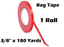 1 Roll Red Bag Sealing Poly Tape 3/8 inch x 180 yards Produce PVC Closure