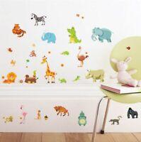 Jungle Animals Wall Stickers Kids Room Decor Safari Baby Nursery Decals Zoo Kid