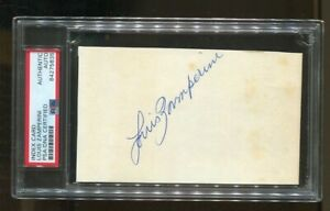 "Louis Zamperini Signed Index Card 3x5 Autograph ""Unbroken"" Olympics WWII PSA/DNA"