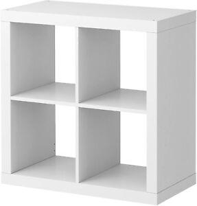 White Ikea Kallax / Expedit bookcase storage shelving unit room divider 4cube