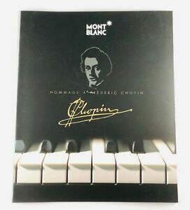 MONTBLANC HOMMAGE A FREDRIC CHOPIN BROCHURE MISICAL SERIES 100% AUTHENTIC
