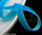 "New 10yards 3/8"" 10mm Velvet Ribbon Bows Wedding Party Decoration Sew Lake Blue"