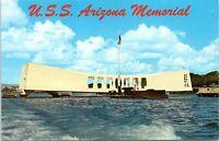 1960s USS Arizona Memorial Pearl Harbor Hawaii Chrome Postcard BF