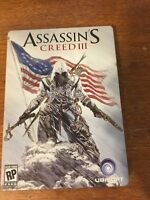 Assassin's Creed III (Microsoft Xbox 360, 2012) In Metal Box Collectors Tin