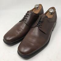 GEOX RESPIRA Men's Brown Leather Oxfords Plain Toe Shoes  Size US14 EUR47