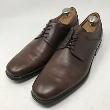 GEOX RESPIRA Men's Brown Leather Oxfords Plain Toe Shoes  Size US13 EUR47