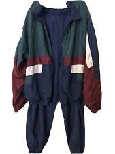 Vintage Mens Fremantle Track Suit Windbreaker Jogging Maroon Blue Green Large