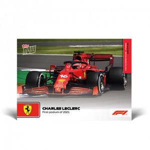 2021 Topps Now F1 #34 Charles Leclerc 1st Podium of 2021 Ferrari PRESALE