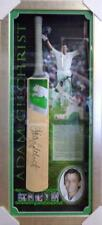 Australian Cricket Adam Gilchrist Personally Signed and Framed Bat