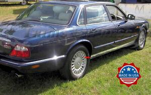 "1997-2002 Jaguar XJ8 Chrome Rocker Panel Trim Extreme Lower Overlay 4.5"" 2Pc"