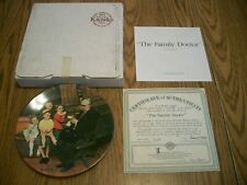 1992 Norman Rockwell Heritage Collection #16 The Family Doctor Plate Knowles