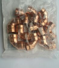 15mm ELBOW BEND COPPER - PACK OF 10 - SOLDER RING - COPPER - 90 - YORKSHIRE