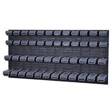 Stapelboxen Werkzeugwand 48 Boxen Schwarz Deckel Montagewand