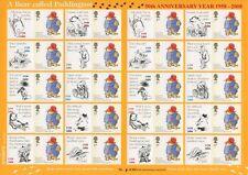 Paddington Bear STAMP SHEET CDBF timbres Surimpression