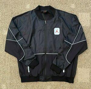 Men's Nike Air Jordan AJ5 Legacy Windbreaker Jacket Black/Red Size XL CU1666-010