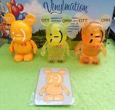 "Disney Vinylmation 3"" Park Set 6 Urban Clear Yellow Orange Text Variant Lot Card"