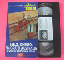 VHS film BELLO ONESTO EMIGRATO AUSTRALIA SPOSEREBBE ALBERTO SORDI (F107) no dvd