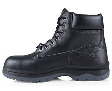 DUNLOP MEN'S MALLET EMBOSSED LACE UP SAFETY WORK BOOT - BLACK- - AU/UK MEN'S SIZ