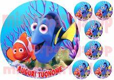 Cialda - Ostia per torte Alla ricerca di Dory con 6 mini cialde dischetti Nemo