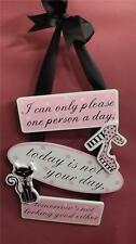 Hanging wooden wall sign/plaque * I CAN ONLY PLEASE ONE PERSON A DAY * new*
