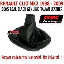 RENAULT CLIO MK2 STORIA 1998-09 HATCHBACK GEAR STICK COVER GAITER LEATHER