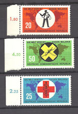 GERMANY , UN , WORLD AGAINST MALARIA ,  SET OF 3 PERF , VLH
