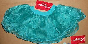 sequin wired double layer Capezio skirt Aqua Green Girls Szs Ballet
