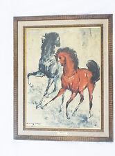 "Beautiful Vintage D.De Holesch ""Courtship""Horses-Turner Wall Accessary-29.5 X 23"