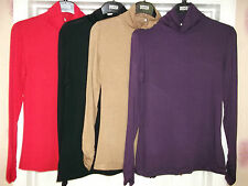 LADIES ex M&S ROLL-NECK TOPS,POLO, TURTLE, THIN JUMPER  8,10,12,14,16,18,20,22