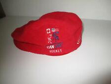 Can/Am Hockey Lake Placid Felt Cap with Brim Hat Red Beret