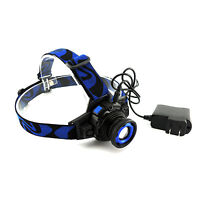 CREE Q5 3-Modes 1000 Lumens LED Rechargeable Headlight Headlamp Zoomable