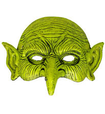 Chinless Green Witch Mask Wicked Goblin Halloween Fancy Dress Accessory